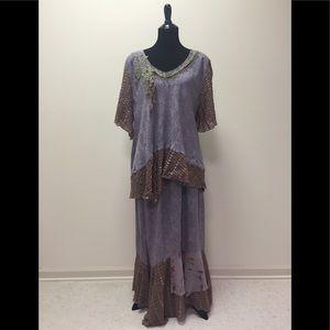 Lavender Boho 2-Piece Dress